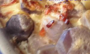 patate blu tagliatelle e genovese 030