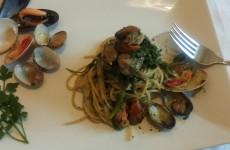 spaghetti con broccoli e frutti di mare 023